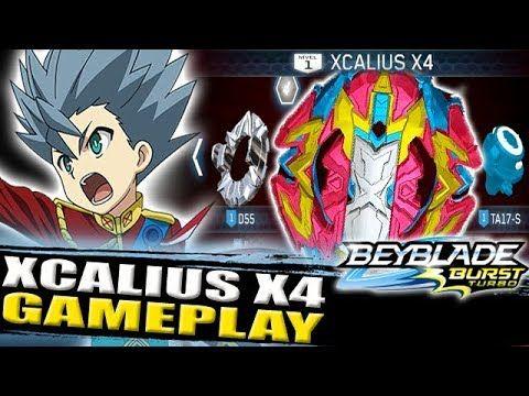 Xcalius X4 Gameplay Beyblade Burst Turbo App Zankye Collab Youtube