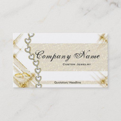 Silver Gold Jewelry Business Cards Jewelry Business Card Silver Gold Jewelry Jewelry Business
