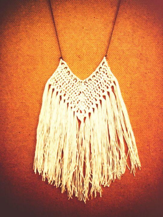 Inspiration :: crochet pendant necklace #handmade #jewelry #crochet