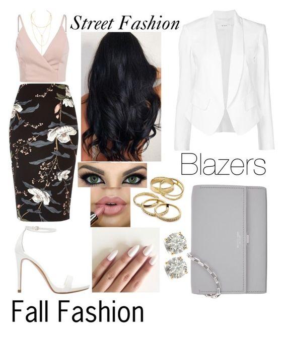 #blazers #outfit #fallfashion #streetfashion by mrsbreezy0522 on Polyvore featuring polyvore fashion style A.L.C. River Island Zara Michael Kors Auriya Jules Smith Kendra Scott clothing