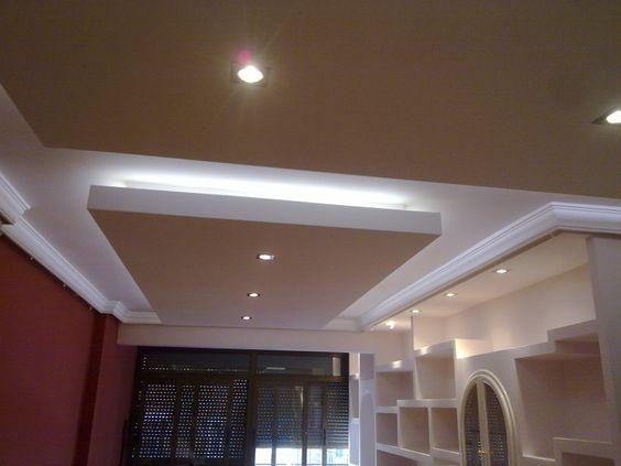 Falso techo pladur luz indirecta buscar con google - Luz indirecta escayola ...