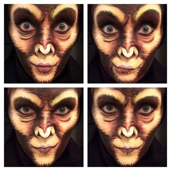 monkey facepaint make up face painting pinterest. Black Bedroom Furniture Sets. Home Design Ideas