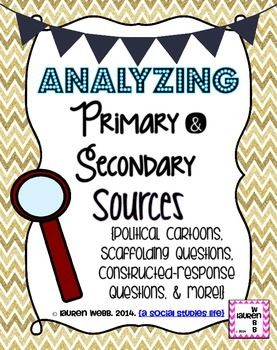 Worksheets Primary And Secondary Sources Puzzle primary and secondary sources puzzle precommunity printables worksheets source political cartoons social studies on pinterest analyzing