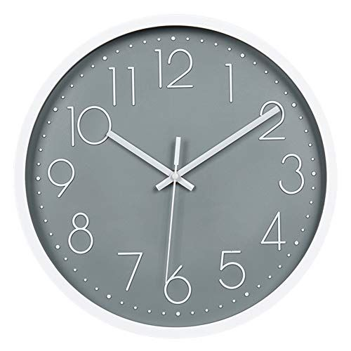 Justup 12in Non Ticking Wall Clock Silent Battery Operat Https Www Amazon Com Dp B07l62ly5y Ref Cm Sw In 2020 Wall Clock Modern Clock Wall Decor Grey Wall Clocks