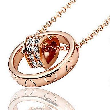 Rota da Seda Rose Plating Diamonade colar do projeto Coração de Ouro (Gold) – BRL R$ 14,42