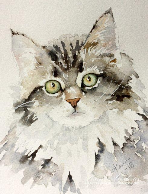 Sunday Watercolor Pet Portrait Cat Pet Portraits Watercolor