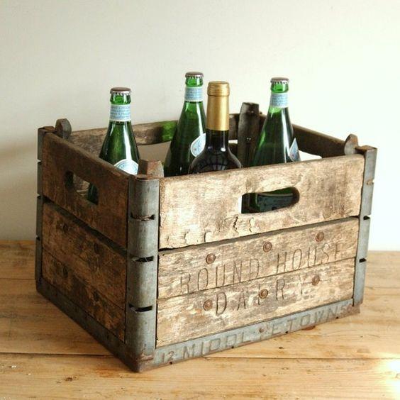 Vintage INDUSTRIAL Wood Metal Farm House Box  by WiltsieBridgeCS, via Flickr