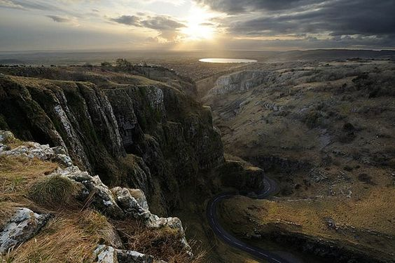 Black Rock near the village of Cheddar in Somerset, England