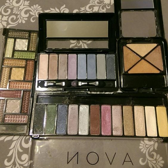Eye shadows! Used but still a lot of product. I have so much. Great pigments. Makeup Eyeshadow