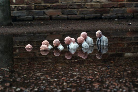 isaac cordal, cement eclipses