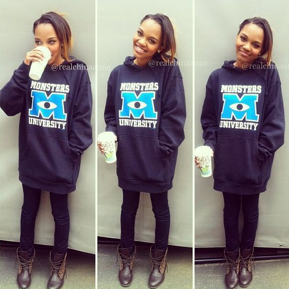 "China Anne McClain Totally Rockin' A ""Monsters University"" Sweatshirt"
