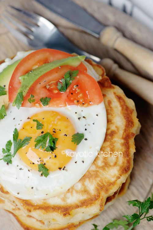 Fluffy Two-Cheese Pancakes - Kayotic Kitchen