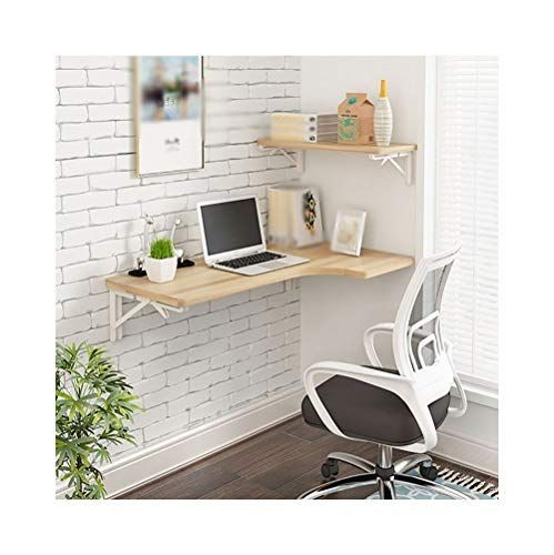 Ajzgf Workspace Organizer Folding Table Wall Mounted Desk L Shaped Desk Corner Computer Desk Siz In 2020 Desks For Small Spaces Small Wall Desk Desk In Living Room