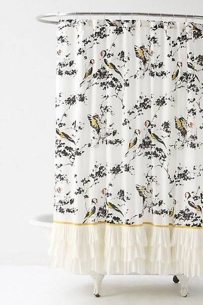 chaffinch anthropologie and shower curtains on pinterest. Black Bedroom Furniture Sets. Home Design Ideas