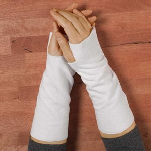 Vermont Fleece Wrist Warmers for walking between interpreting jobs in the fall and winter to keep the tools warm and ready to work: keeps injury, like CT away.