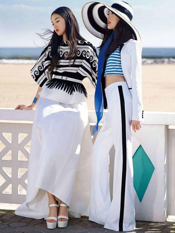 KT Auleta Shot Shu Pei Qin and Tian Yi  for Vogue China January 2014 #summer trendhunter.com