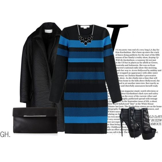 -A Touch Of Blue- by guruhunter on Polyvore - http://www.cutesyoriginals.com/product/vicky-13-black-quilted-mesh-platform-ankle-boots-stiletto-heels/