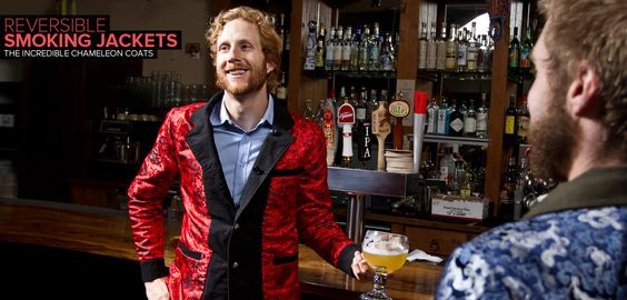 Loce Betabrand!! - reversible smoking jackets, the incredible chameleon coats
