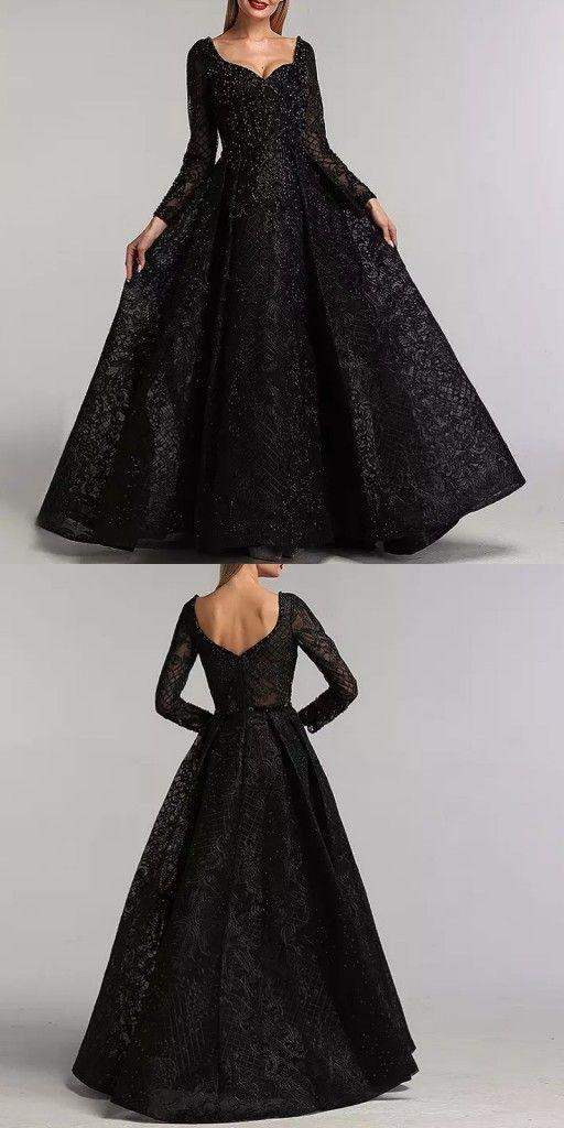 Elegante Abendkleider Lang Glitzer Abiballkleider Schwarz Mit Armel Abendkleid Elegante Abendkleider Kleider