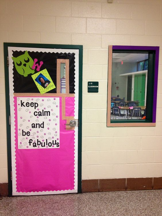 Back to school door decoration idea classroom for Back to school door decoration