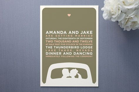 wedding invitations. 125 @ $296 w/ recycled paper