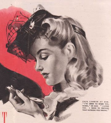 An absolutely lovely 1940s hairstyle to wear with vintage hats. #vintage #hair #1940s: