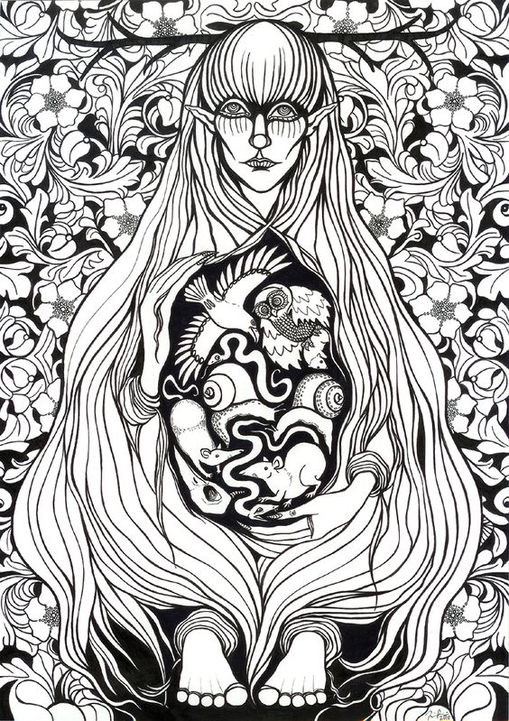 In the Finnish mythology  the Nine diseases are the sons of Loviatar, the blind daughter of Tuoni.She is impregnated by the wind. According to the version told in the Kalevala they are Pistos (consumption), Ähky (colic), Luuvalo (gout), Riisi (rickets), Paise (ulcer), Rupi (scab), Syöjä (cancer), and Rutto (plague). The ninth, a witch and the worst of all, remains unnamed. He, the personification of envy, is banished by his mother to become the scourge of mankind.: