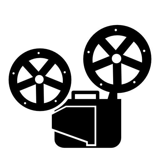 Objetos para DG: vectorial, cine, película, cinta, proyector, toma ...