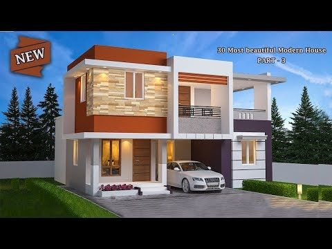30 Most Beautiful Modern House Front Elevation Design Double Floor Part 3 Youtube Front Elevation Designs House Modern House,Screened Porch Plans Designs