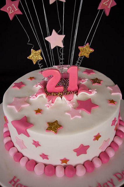 donna 39 s 21st cake by miss kate cupcake via flickr. Black Bedroom Furniture Sets. Home Design Ideas