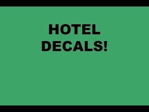 Hotel Decals For Bloxburg Decals Hotel Gaming Logos