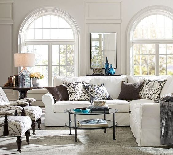 Round shape coffee tables works especially well with an L-shaped sectional, and also are great fits for smaller spaces.