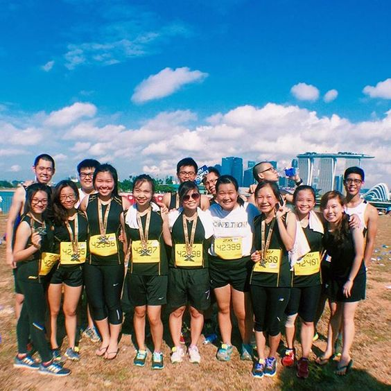 Ran my first race with these warriors!  @newculturesg #thisislifegroup #2xu #compression by kindlejoyx