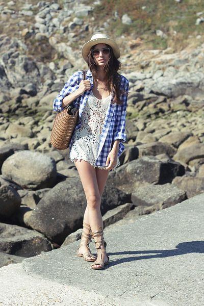 H&M shirt - H&M hat - Zara shorts - pull&bear sandals