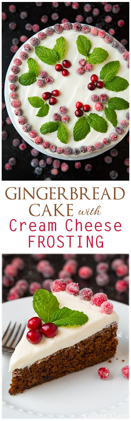 Gingerbread Cake with Cream Cheese Frosting - this cake is perfectly ...