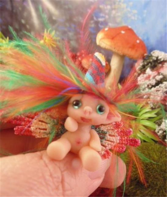 Miniature Fairy Troll Elf Ooak Pixie Sculpt Art Doll by Pixiediddles