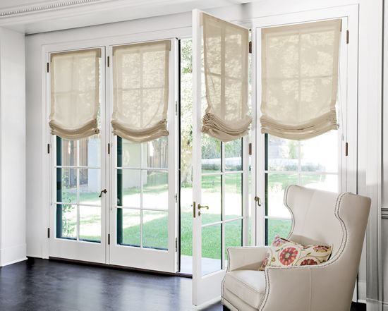 The o 39 jays fabric shades and kitchen windows on pinterest for Fabric shades for kitchen windows