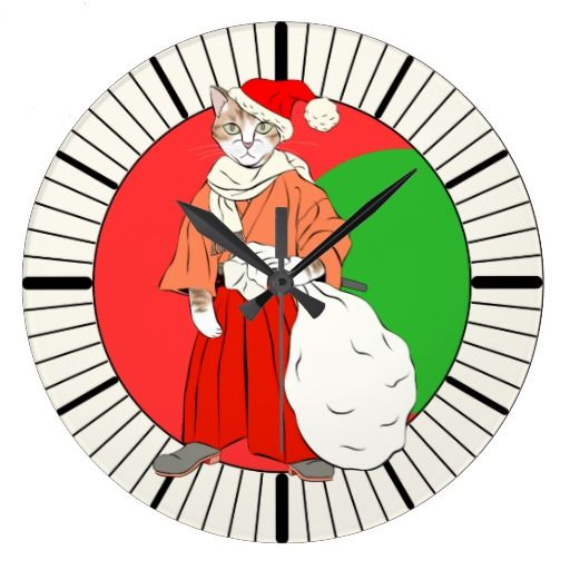 Samurai cats 1(三毛丸サンタ) 壁時計