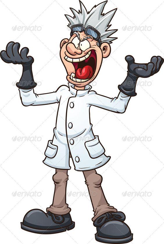 evil cartoon scientist - 564×836