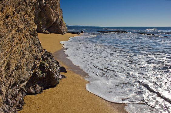 See the majestic cliffs by Half Moon Bay State Beach. #halfmoonbaystatebeach