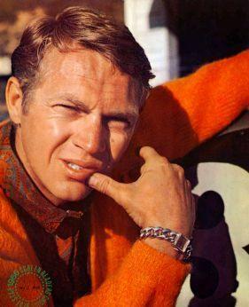 Steve McQueen with Gruen wtach