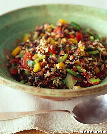 Wild and Brown Rice Salad - Whole Living Eat Well: Olive Oil, Brown Rice Salad, Salad Recipes, Balsamic Vinegar, Rice Recipe, Food Salad, Wild Rice Salad