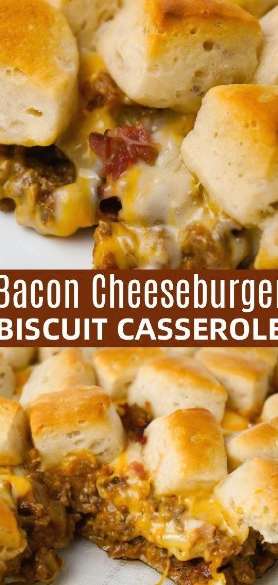 Bacon Cheeseburger Biscuit Casserole Is An Easy Ground Beef Dinner Recipe Loaded With D In 2020 Ground Beef Casserole Recipes Easy Casserole Recipes Biscuits Casserole