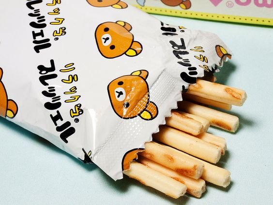 Rilakkuma breadsticks packaging