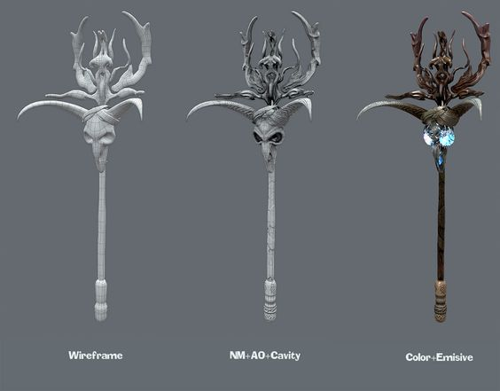 black magica Staff 2k Polys Marmoset Rendered. All done in Zbrush 4R6