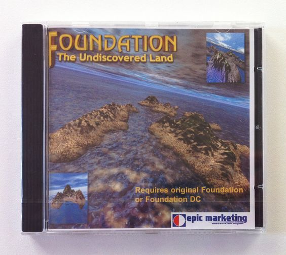 Foundation: The Undiscovered Land (Amiga).  Data-Disk für Foundation und Foundation: The Directors Cut. Original verschweißt.  www.mingos-commodorepage.com