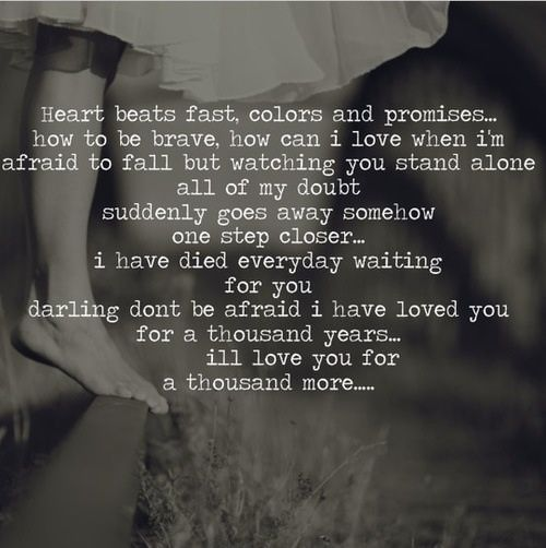 Thousand Years, A Thousand Years And Christina Perri On
