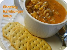 The Better Baker: (Simple) Cheesey Hamburger Soup