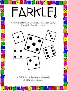 Classroom Freebies Too: FARKLE in the Classroom! Promotes place value, addition, mental math and probability skills. I love playing this game at home, now my kids can play too!: