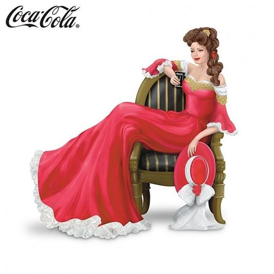 Victorian-style Coca-Cola lady by The Hamilton Collection